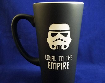 Large Black Personalized Storm Trooper Coffee Mug, Star Wars Mug, Trooper Mug, Custom Coffee Mug, Personalized Mug, Coffee Mug, Mug (CS036A)