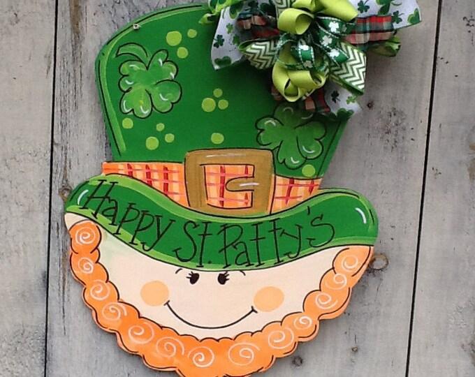 St. Patricks door sign, st. Patricks door hanger, st. Patricks decoration, leprechaun door hanger, st. Party's door sign, luck of the Irish