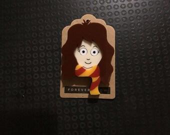 Hermione acrylic laser cut brooch