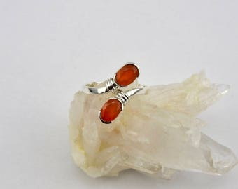 Carnelian ring. Sterling silver. Ring. Gemstone rings. Carnelian. Jewelry. ring. Modern. Designer. Natural gemstone. Trendy. Gemstone ring