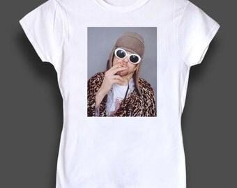 Kurt Cobain women's tshirt