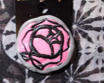 Revolutionary Girl Utena Brooch Rose Seal