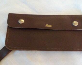 Brown Leather Men's Biker Wallet