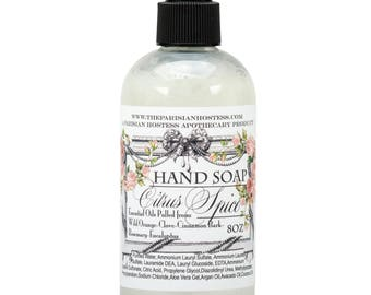 Organic Hand Soap- Essential Oil Soap- Hand Soap with Essential Oils- Handmade Soap- Paraben Free Soap- Sulfite Free Soap - Organic Soap
