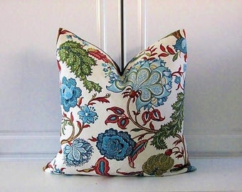 Blue Jacobean Pillow Cover- Barclay Butera