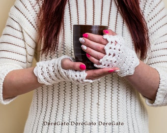 Crochet mittens pattern, Crochet gloves pattern, fingerless gloves, mittens, Women accessories, Instant Download /6003/