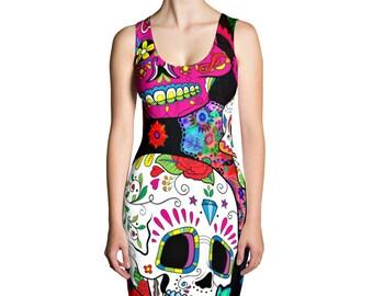 Sugar Skull Dress , Day Of The Dead  XS-XL