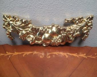 PORCELAIN GOLD ARCH, Porcelain Gold Leaf Fruit Arch, Gold  Arch of Plenty