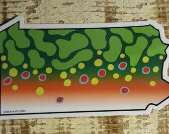 Pennsylvania Brook Trout Sticker Decal