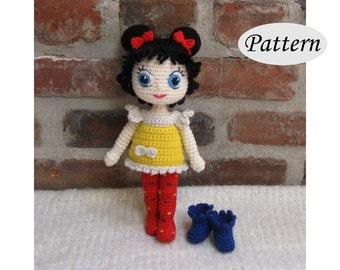 PATTERN - Dottie Doll - Amigurumi - Crochet Doll - Photo Tutorial - PDF