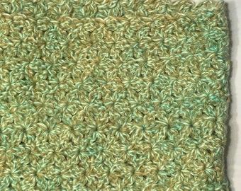 Soft Green Hand Crocheted Cowl