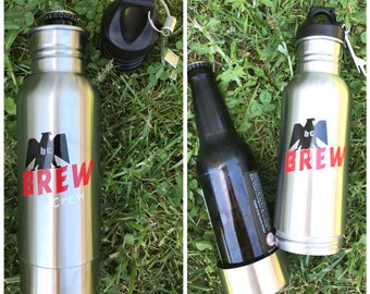 Monogrammed Beer Bottle Tumbler