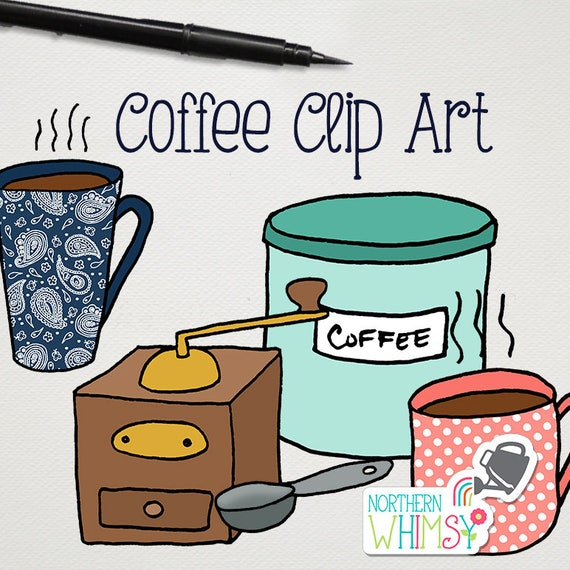 Coffee Clip Art hand drawn coffee pot coffee mug coffee