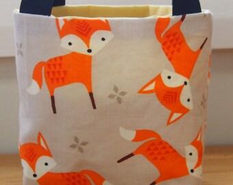 Precious treasures bag, fox fabric, children's bag