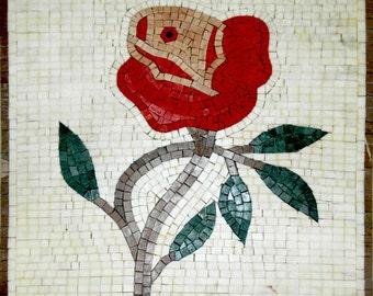 Mosaic Wall Art - Abstract Red Tulip