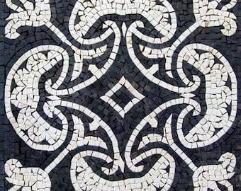 Black/White Mosaic - Heart of Herat