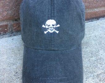Skull Hat - Skull and Crossbones Baseball Hat - Tiny Design Baseball Cap