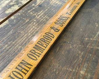 Antique Ruler with Advertising