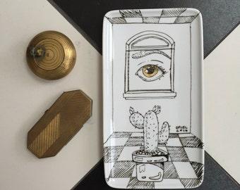 Eye - porcelaine plate