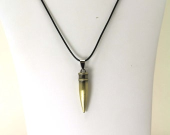 Bullet Ammo - Necklace - Pendent with free black leather cord
