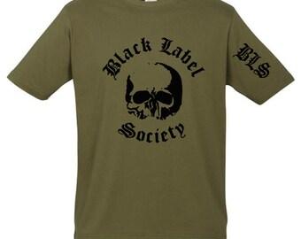 Black Label Society T-shirt BLS New Khaki Sleeve Print t shirt S M L XL XXL Heavy Sludge Groove Metal Band Zakk Wylde Ozzy Ozbourne