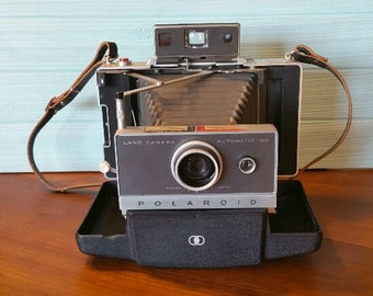 Polaroid Automatic Land Camera Model 100; Vintage Camera; Polaroid Camera; Polaroid Land Camera; Polaroid Camera with Accessories