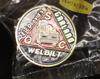 Vintage McDonalds 1996 Garland Welbuilt Vintage Tack Pin Golden Arches SQC