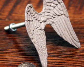 Angel Wing Knob - Angel Wing Drawer Pull - Knobs and Pulls - Angel Wings - Drawer Pull - Angel Knob - Shabby Chic Knob - Shabby Chic Dresser