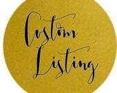 Custom Listing for Chelsea Williams
