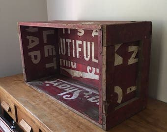 Rare 1950's Burma Shave signs made into a crate - awesome folk art piece - coffee table?