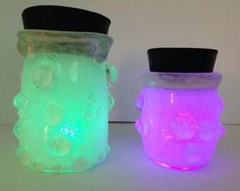 Glowing Glass Jar