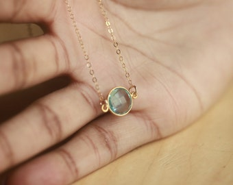 Blue Topaz Necklace, Blue Topaz Pendant, Bridal Jewelry, Pendant Necklace, Gold Necklace, Gold Topaz Necklace, Blue Topaz