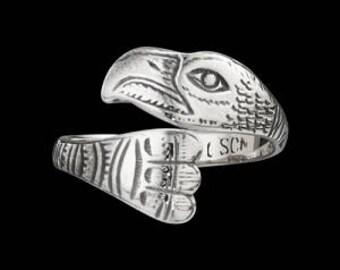 Sterling Silver Tlingit Eagle Ring