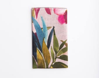 Tropical Wedding Pocket Square, Tropicana Floral Pocket Square, Floral Pocket Square, Linen, Gift for him, Hawaiian Theme