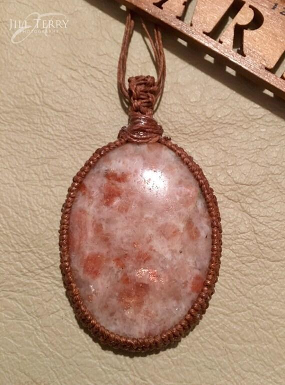 Sunstone Pendant / Natural Stone Jewelry / Sunstone Necklace
