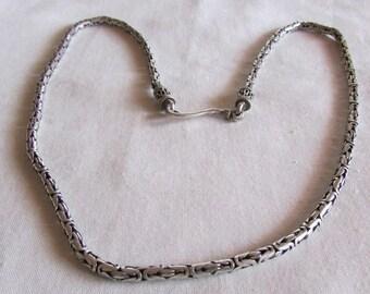 "Sterling Silver Byzantine Chain 18 3/4"""