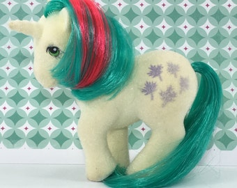FREE SHIPPING! Vintage G1 MLP My Little Pony Flocked Fuzzy Gusty