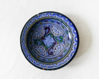 Hand-painted Moroccan Ceramic Serving Dish-Yellow Plat Marocain
