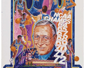UCLA Basketball Poster - FREE Shipping
