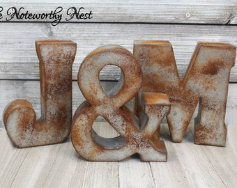 Rustic Letters / Modern letter / gallery wall letter / standing letter or hanging / Initial / Industrial decor / Rustic decor / Galvanized