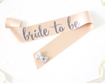 Bride to Be Bachelorette Sash in Font #2 - Bachelorette Party - Bride Gift - Bride Sash - Bridal Shower - Sash