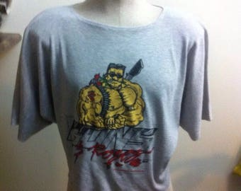 Vintage guns and roses Active gym work out t shirt 1993 Cropped top sz large