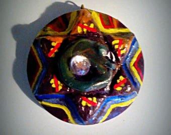 Ouroboros Hexagram Pendant, Oroboros Pendant, Chai Pendant
