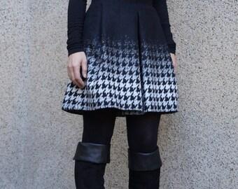 Wool Skirt/Wool Dress/Fashion Skirt/Casual Dress/Women Mini Skirt/Mini Dress/Winter Skirt/F1519
