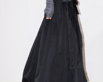Lovely Dark Blue Maxi Skirt/High or Low Waist Skirt/Long Waistband Skirt/Blue Skirt/ Taffeta skirt/ Princess Skirt/ Party/ Evening/ F1361