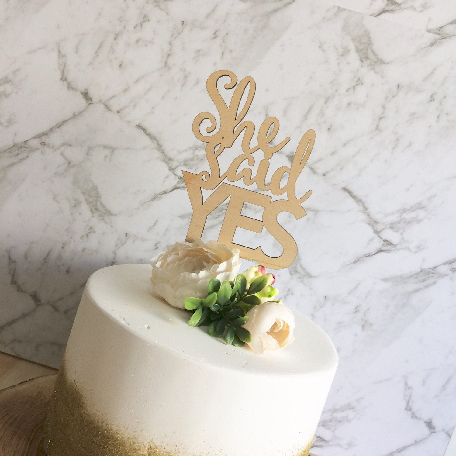 wedding cake topper yes or no engagement cake topper she said yes cake topper 26666