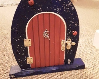 Items similar to fairy door for fairy village on etsy on etsy for Batman fairy door