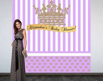 Baby Shower Princess Birthday Party Personalize Photo Backdrop - 16th Birthday Photo Backdrop- Large Photo Backdrop