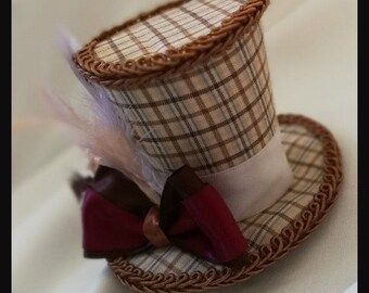 Doctor Who 11th doctor inspired  Mad Hatter  Mini Top Hat Fascinator