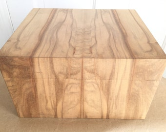 Custom Artisan Large Raw Wood Veneer Box